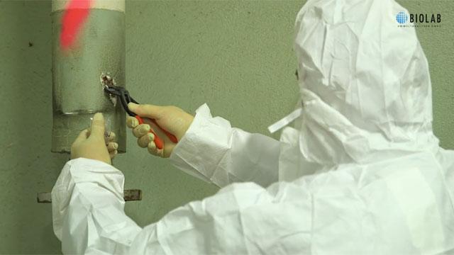 BIOLAB Umweltanalysen Braunschweig, Probenahme Asbest